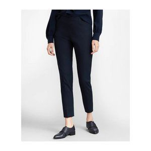 BROOKS BROTHERS - Flat front wool cropped pants
